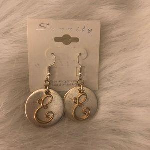 Jewelry - Initial Earrings Letter E